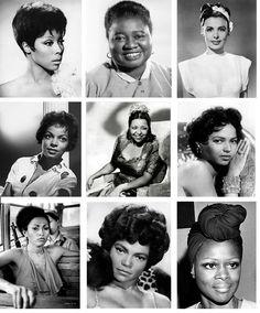 Dianne Caroll, Hattie McDaniel, Lena Horne, Ruby Dee, Ethel Waters, Dorthy Dandridge, Pam Grier, Eartha Kitt, Cicely Tyson.