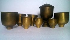 antique WW1 Romanian military army canteen cups burner field gear militaria