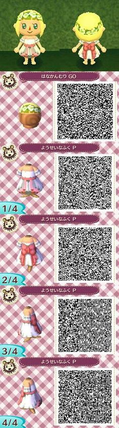 New Leaf QR Codes flower child dress and crown