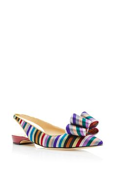 Printed Bow Sling Back by PAUL ANDREW Now Available on Moda Operandi
