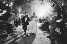 who doesn't love a sparkler exit for a wedding? #realwedding