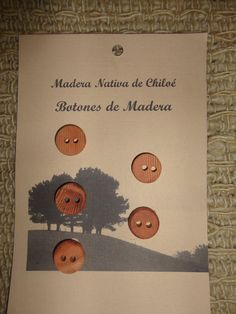 Boton Redondo en Madera Nativa de Alerce hecho por ElEmporiodeSofia