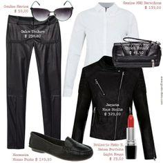 Como usar calça de couro - Uma calça de couro preto = 4 looks