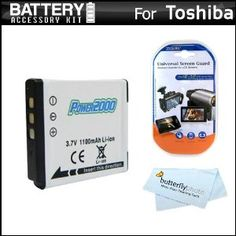Battery Kit For Toshiba Camileo BW10 Waterproof HD Video Camera Includes Extended Replacement (900 maH) PX1686 Battery + LCD Screen Protectors + MicroFiber Cleaning Cloth (Electronics)  http://www.amazon.com/dp/B005LRSIVK/?tag=goandtalk-20  B005LRSIVK