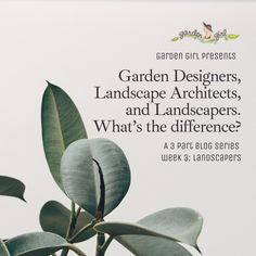 Let's wrap this series on garden professionals with a look at how landscapers help their clients. Learn more at the Garden Girl blog! Presents For Girls, Landscape Plans, Girl Blog, Irrigation, Horticulture, Garden, Design, Garten, Tuin