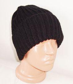 ec641466b69 Birthday Boy Personalized Wool Hat Hand Knit Mens Beanie Hat in Black  Mustard White