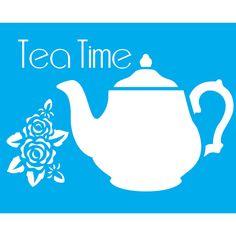 Stencil para Pintura 20x15 Tea Time LSM-003 - Litocart - PalacioDaArte