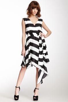 Asymmetrical Back Wrap Dress