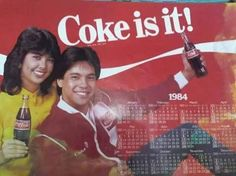 Pops Fernandez and Martin Nievera in Coke calendar. Vintage Comics, Vintage Ads, Brand Advertising, Old Advertisements, Popular People, Manila Philippines, Commercial Art, Old Ads, My Childhood Memories