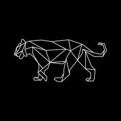 Afbeeldingsresultaat voor geometric tiger wall decal