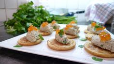 Smoked Mackerel and Apple Pate Blinis - An impressive canape you can prepare ahead