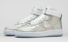 "Nike Sportswear introduces the new Air Force 1 ""Iridescent Pearl"" collection for women."
