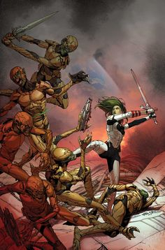 Gamora, Guardian of the Galaxy by Steve McNiven