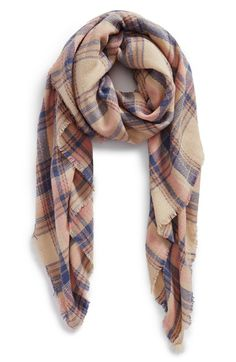 BP.+'Pretty+Plaid'+Oblong+Scarf+available+at+#Nordstrom