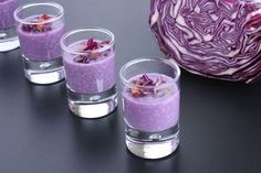 Trendy Ideas For Brunch Ideen Glas Red Cabbage, Appetisers, Antipasto, Raw Food Recipes, Food Inspiration, Love Food, Mousse, Shot Glass, Food And Drink