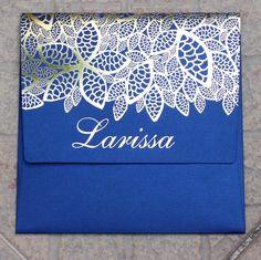 Convite para Larissa. #invitation #blue #debutant #gold