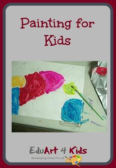 If you want activities for painting with kids and want more process only type activities along with learning some skills then check out these painting activities for kids Acrylic Painting For Kids, Finger Painting For Kids, Summer Art Projects, Toddler Art Projects, Painting Activities, Activities For Kids, Art For Kids, Crafts For Kids, Kids Fun