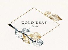 Wedding Invitation Kits, Invitations, Celtic Runes, Watercolor Leaves, Digital Form, Frame Wreath, Botanical Prints, Watercolor Illustration, Gold Leaf