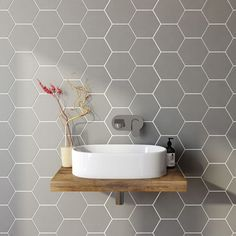 Bathroom Tile Ideas Tile Bathroom Remodel Tags Bathroom with sizing 1200 X 1200 Diy Bathroom Wall Tile Ideas - If you're considering replacing that old Hexagon Tiles, Diy Bathroom, Room Wall Tiles, Bathroom Tile Diy, Bathroom Wall Tile, Bathroom Flooring, Bathroom Design Small, Grey Bathrooms, Bathroom Wall
