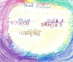 Waldorf ~ 3rd grade ~ Math ~ Division ~ main lesson book