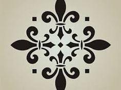 Resultado de imagen para stencil fleur de lis