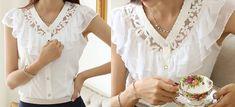 modelagem de blusa com babado
