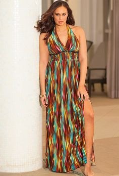 Eight Sixty Stripe Jersey Maxi Dress (Plus Size) available at ...