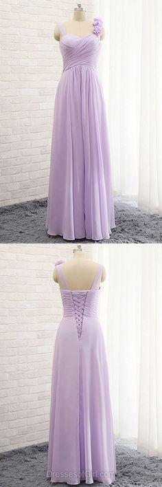 Purple Bridesmaid Dresses, Discount Bridesmaid Dresses, Cheap Bridesmaid Dress, Chiffon Long Bridesmaid Gowns, Modest Sweetheart Bridesmaid Dresses