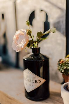 Hendricks Gin bottle Dark wooden decking, garden furniture and decor inspiration to help you to make your outside living space an extension of your home. Gin Bottles, Bottle Vase, Hendricks Gin Bottle Ideas, Diy 2019, Back Garden Design, Gin Bar, Bottle Centerpieces, Outside Living, Outdoor Living