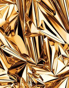Het factuur van deze gouden vormen is glad