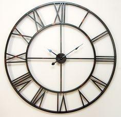 Zegar duży 100 cm loft #loft #clock #zegardosalonu H Design, House Design, Silver Wall Clock, Thing 1, Gifts For Office, Home Living, Living Room, Really Cool Stuff, Retro Vintage