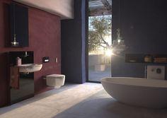 Cuarto de baño de Geberit con AquaClean Mera