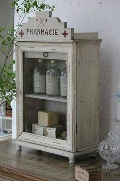 Pharmacie...Romantic ~vintage~home FB page. I figure if I have to be on lots of meds, I might as well make it pretty and shabby :)