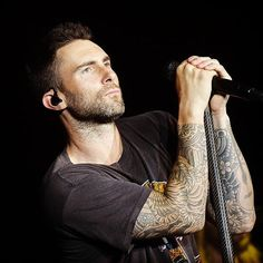 Adam Levine is the love of my life and my Forever Hero. Anything Adam, and Los Angeles. Imaginary Boyfriend, Behati Prinsloo, Breath In Breath Out, Adam Levine, Maroon 5, Pop Singers, Cool Bands, Bad Boys, Sleeve Tattoos