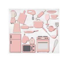 Light Pink Kitchen Clipart Clip Art Graphics by ChangingVases, $5.00