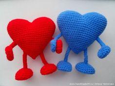 New crochet amigurumi heart pattern yarns ideas Crochet Toys, Crochet Baby, Knitted Heart, Crochet Decoration, Heart Patterns, Yarn Crafts, Baby Knitting, Origami, Free Pattern
