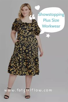 Ever just want to flex on everyone at work in a super cute outfit? This is a perfect idea. A showstopping yet casual dress and some booties are the perfect way to dazzle in the capsule wardrobe world. Who says plus size workwear has to be boring? Plus Size Workwear, Best Workwear, Workwear Fashion, Capsule Wardrobe, Plus Size Fashion, Work Wear, Cute Outfits, Short Sleeve Dresses, Style Inspiration