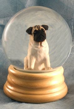 Pug Dog Musical Water Snow Globe Fawn - You've Got a Friend Tune $99.99 at DogLoverStore.com