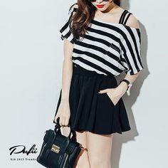 Buy 'PUFII – Striped Tee' with Free International Shipping at YesStyle.com. Browse and shop for thousands of Asian fashion items from Taiwan and more!