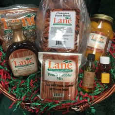 Baking Lovers Basket from Lane Southern Orchards - a great gift for the holidays! Fresh from Georgia Cinnamon Pecans, Cinnamon Bread, Roasted Pecans, Best Chef, Home Baking, Frozen Fruit, Online Gifts, Cobbler