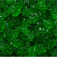These Granny Smith Apple Gummi Bears are Fantastic!<br><BR>Ingredient: Corn Syrup& Sugar& Gelatin& Citric Acid& Sorbitol& Natural & Artificial Flavors& FD&C Yellow Blue Vegetable Oil (Coconut)& Carnauba Wax (used for anti sticking). Gummy Bear Candy, Gummy Bears, Candy Gift Box, Candy Gifts, Online Candy Store, Grinch Party, Green Candy, Bulk Candy, Green Theme