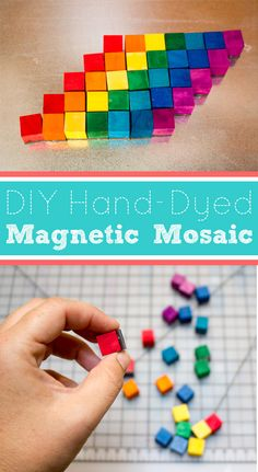 Hand-dye your own DIY magnetic mosaic kit!