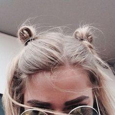 cute little top knot buns