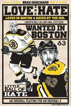 295290b8a Brad Marchand - little ball of hate - nose face killah
