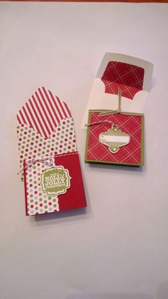Cute little 3x3 cards with matching envelopes.