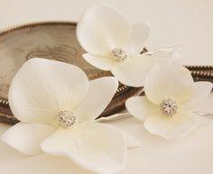 Bridal Ivory Orchid Hair Fascinator Set of by VirginiaGeigerJewels, $48.00