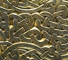 Detail of a belt buckle from Sutton Hoo, England, burial - 7th century A.D.