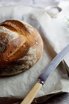 Potato, pecorino & rosemary bread l Simply Delicious Croissants, Rosemary Bread, Rustic Bread, Potato Bread, Our Daily Bread, Artisan Bread, Bread Baking, Love Food, Bread Recipes