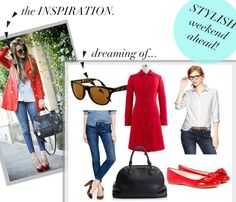 jillgg's good life (for less) | a style blog: weekend style... dreaming of pops of red!