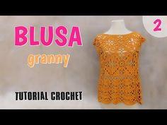 Como tejer una blusa en crochet o ganchillo (2/2)